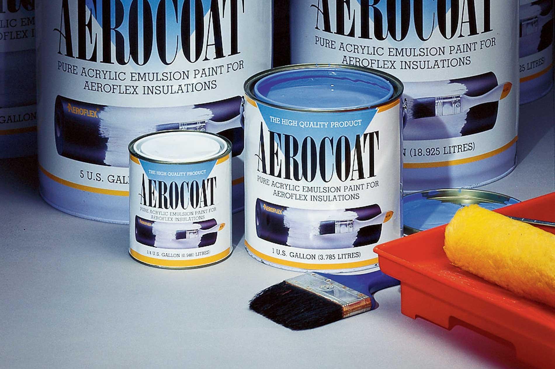 Aerocel Aerocoat ™ es una pintura térmica para aislantes de látex, basada en agua de emulsión acrílica pura. Esta especialmente diseñada para uso con productos de aislamiento Aerocel®.